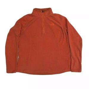 The North Face Women Orange Fleece Jacket Size L